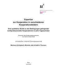 Expertise zur Kooperation in verschiedenen ... - 4057-basel.ch