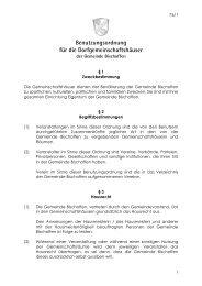 76-1 Benutzungsordnung Dorfgemeinschaftshäuser - Bischoffen
