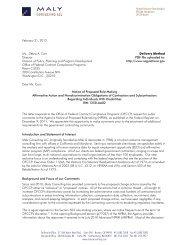 Public Comment Letter - Sec 503 Due 21Feb 2012 - Maly ...