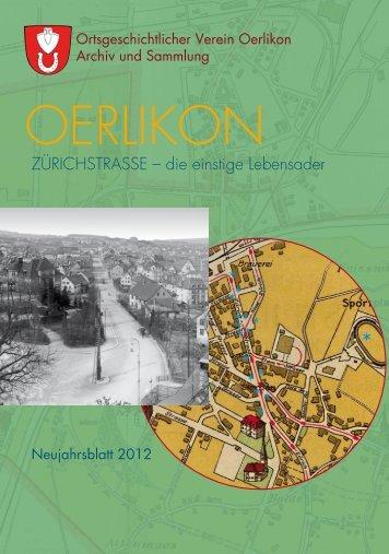ZÜRICHSTRASSE – die einstige Lebensader - Ortsgeschichtlicher ...