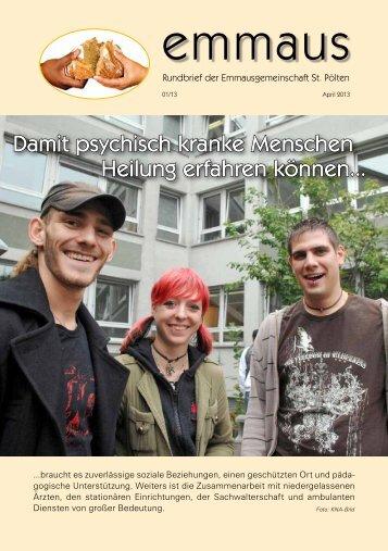 Rundbrief Ausgabe 01/2013 - Emmausgemeinschaft St. Pölten