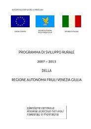 programma di sviluppo rurale 2007 - Università IUAV di Venezia