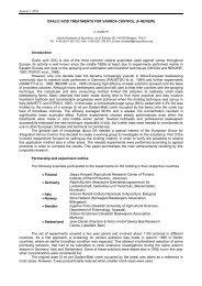 oxalic acid treatments for varroa control (a review) - Apimondia