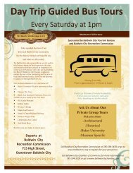 day trip bus tour flier - Baldwin City Chamber of Commerce