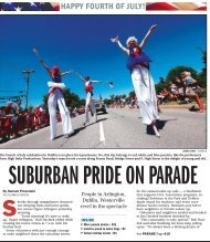 Suburban pride on parade