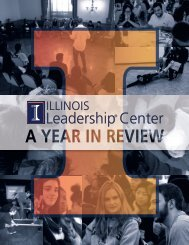 Illinois Leadership® Center: A Year In Review