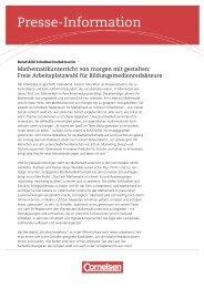 Berufsbild Schulbuchredakteur/in - Cornelsen Verlag