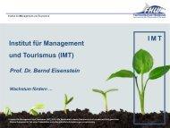 I M T Institut für Management und Tourismus (IMT)