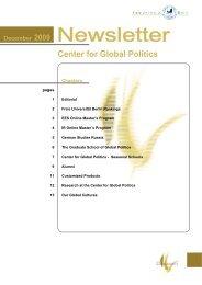 December - Center for Global Politics