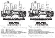 die Karawane für die Rechte der Flüchtlinge und ... - Antifa Frankfurt
