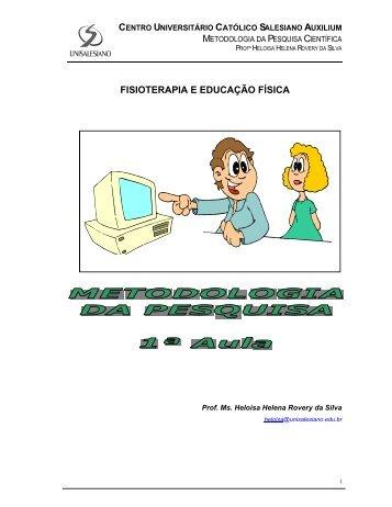 METODOLOGIA DA PESQUISA - 1ª AULA.pdf - unisalesiano