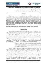 AvaliaC3A7C3A3o de membro superior em mulheres ... - unisalesiano