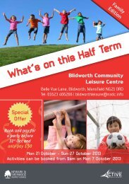 Blidworth Oct Half Term 2013