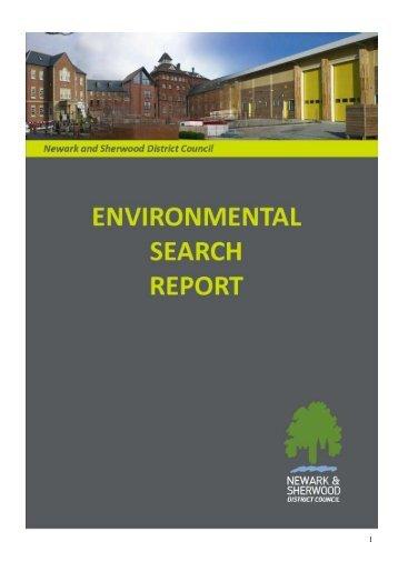 Example Detailed Environmental Report - Newark and Sherwood ...