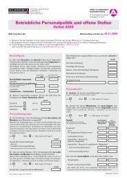 Betriebliche Personalpolitik und offene Stellen Herbst 2009 - IAB