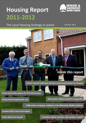 Housing Report 2011/12 - Newark and Sherwood District Council