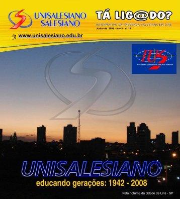tá lig@do novo - unisalesiano