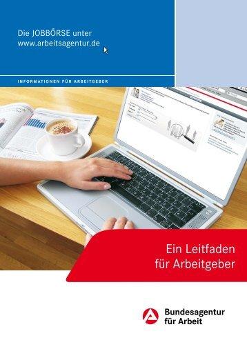 Die JOBBÖRSE der BA - Leitfaden für Arbeitgeber - Bundesagentur ...