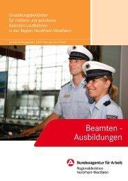 Beamten-Ausbildungen 2013 - Bundesagentur für Arbeit