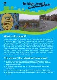 Bridge Ward Neighbourhood Study Leaflet - Newark and Sherwood ...