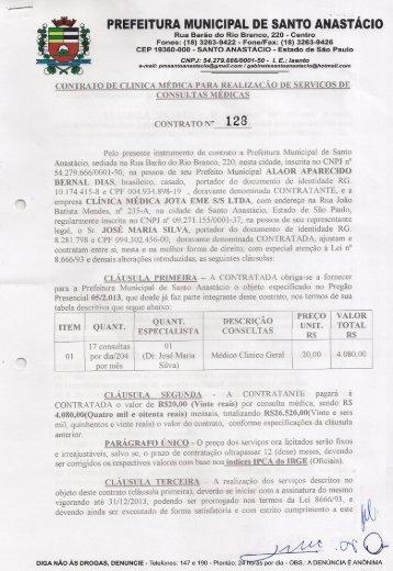 prefeitura munichpal de santo anastácio - Prefeitura Municipal de ...
