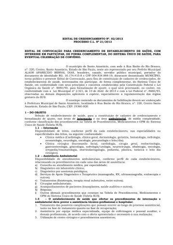 edital de credenciamento nº. 02/2013 processo cl nº 21/2013 edital ...