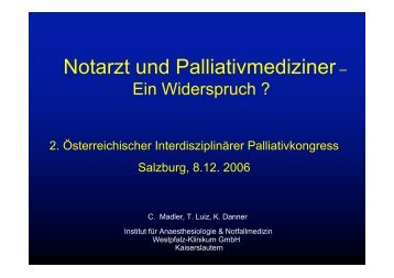 Notarzt und Palliativmediziner– - palliativ-medizin.at