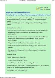 Freie Schule LernZeitRäume Dossenheim sucht - Gesellschaft für ...