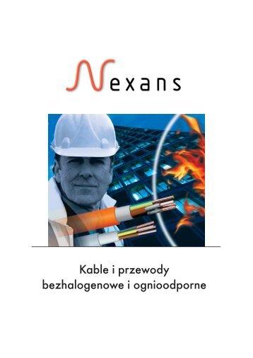 Kable i przewody bezhalogenowe i ognioodporne - Nexans