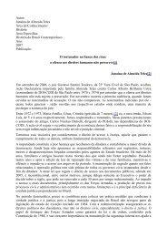 Janaína de Almeida Teles Área do Conhecimento - Diversitas - USP