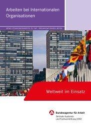 Arbeiten bei Internationalen Organisationen - Bundesagentur für ...