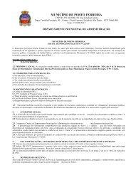 edital de abertura de processo seletivo n.º 02/2010 - Porto Ferreira