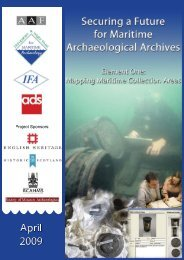 Mapping Maritime Collection Areas - Council for British Archaeology