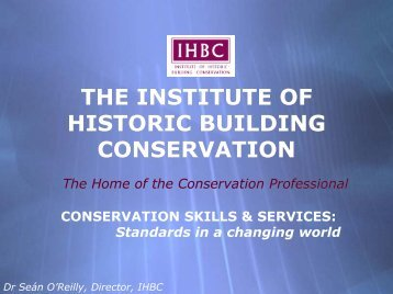 Conservation skills and services