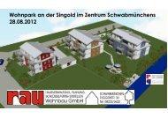 Wohnpark an der Singold im Zentrum ... - Rau Wohnbau GmbH