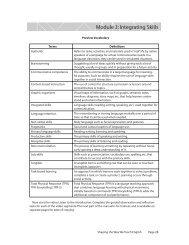 Module 3: Integrating Skills