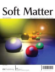 Soft Matter - Laboratoire de Physico-Chimie Theorique, ESPCI ...