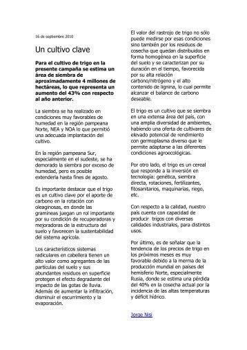 Un cultivo clave - desarrollo argentino