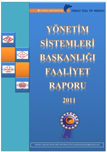 Faaliyet Raporu son.pdf - Turgut Özal Tıp Merkezi