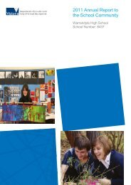 2011 Annual Report - Warrandyte High School