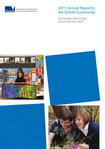 2011 Annual Report - Warrandyte High School