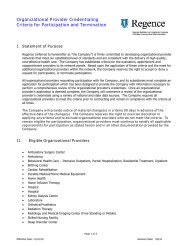 Organizational Provider Credentialing Criteria for Participation and ...