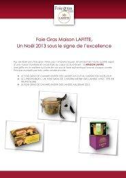 Foie Gras Maison LAFITTE, Un Noël 2013 sous le ... - Transversal