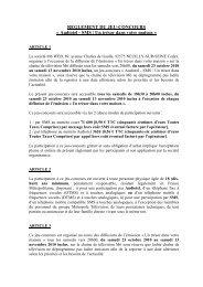 Règlement jeu-concours Audiotel - SMS - Un trésor dans vot– - M6