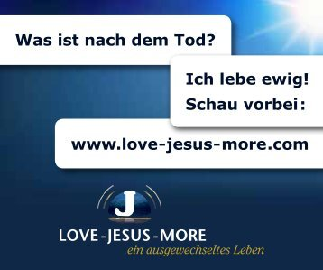 Schau vorbei - Love Jesus More
