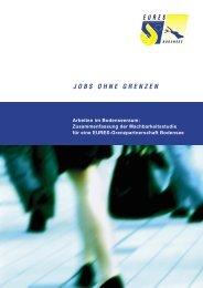 JOBS OHNE GRENZEN - EURES Bodensee
