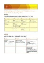Sommerbordunale Programm - Bordun eV
