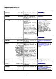 Instrumental Workshops Ensemble I