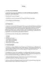 Satzung 9-2000 - Bordun eV