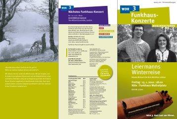 Funkhaus- Konzerte Leiermanns Winterreise